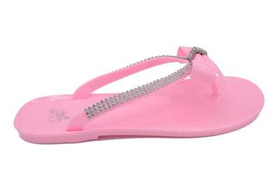 Luxe roze dames slipper met strass